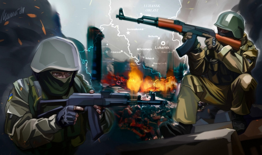 Киевские силовики переоделись в форму НМ ЛНР для съемок фейков