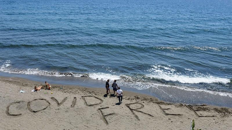 ForPost - Новости : Ноу-хау: открылся первый пляж, «свободный от ковида»