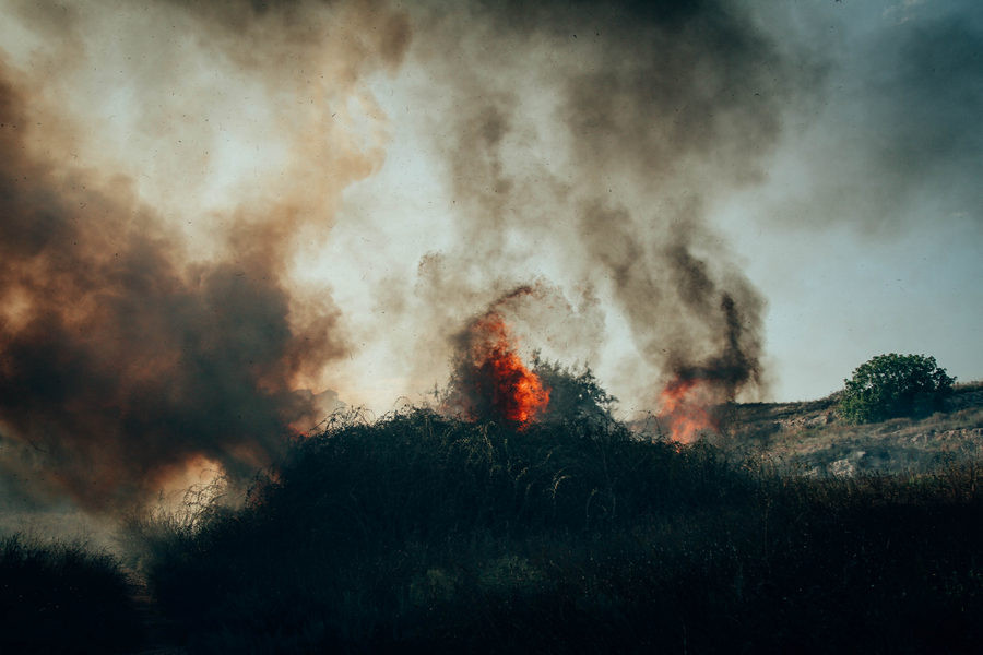 ForPost - Новости : Крупные пожары в Севастополе охватили почти 6 тысяч квадратных метров земли