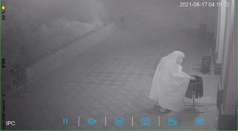 ForPost - Новости : На курорте Крыма «привидение» копается в урнах