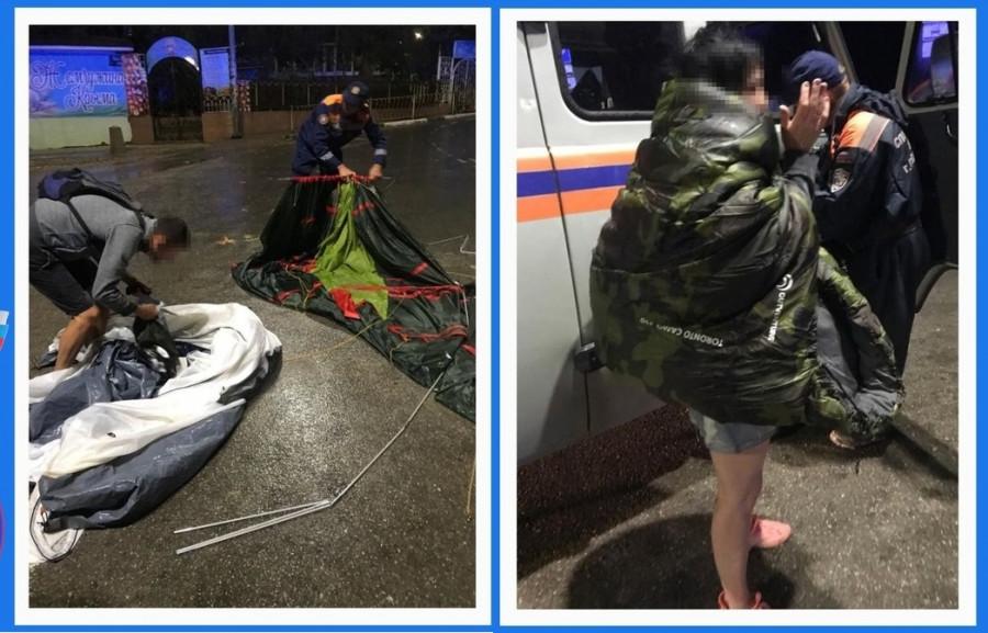 ForPost - Новости : Ночной шторм блокировал палаточников на диком пляже в Любимовке