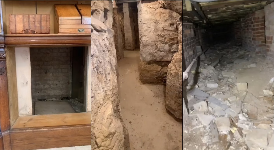 ForPost - Новости : Мужчина обнаружил тайные катакомбы у себя под домом. Видео
