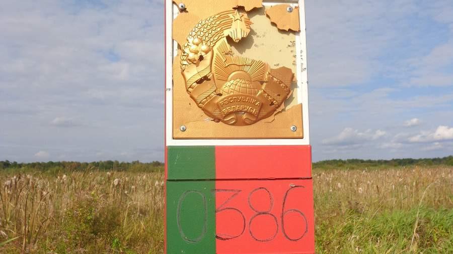 ForPost - Новости : Пограничный знак Белоруссии обстреляли с территории Украины