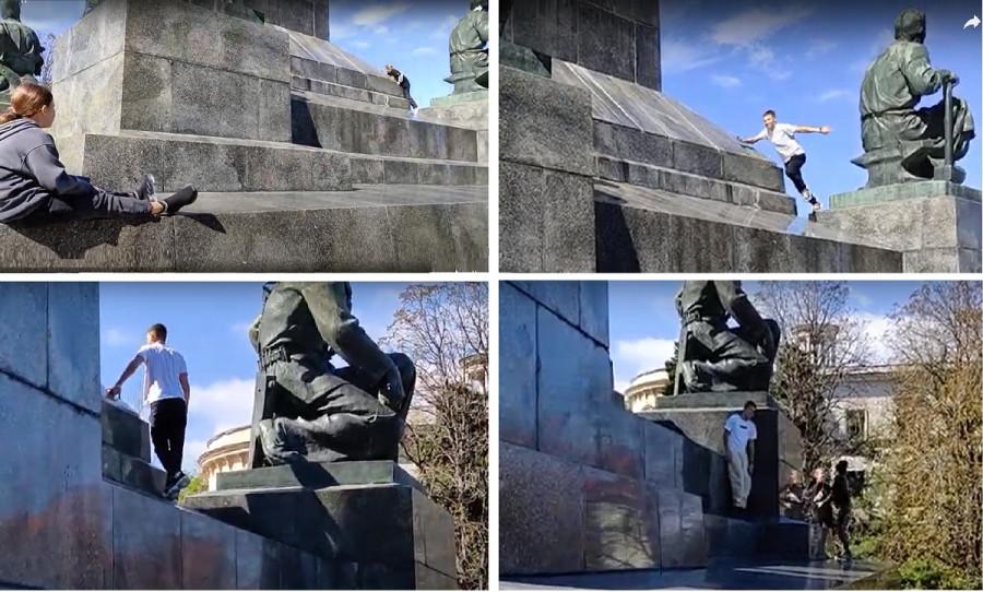 ForPost - Новости : В Севастополе памятники стали спортплощадками и игровыми зонами