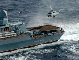 ForPost - Новости : 20 посадок и взлётов вертолетов на ракетный крейсер «Москва»
