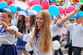"""ForPost - Новости : Продолжение традиций. В Севастополе 10-тысячным детским парадом отметили """"День пионерии"""""""