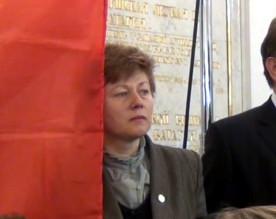 ForPost - Новости : Константин Затулин назвал флаг Севастополя «транспарантом с площадными лозунгами», а сенатора от города-героя «экзальтированной женщиной»