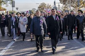ForPost - Новости : Севастопольцы отметили День народного единства многотысячным шествием