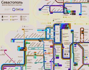 ForPost - Новости : В Севастополе разработали новую схему движения городского транспорта. Карта-схема