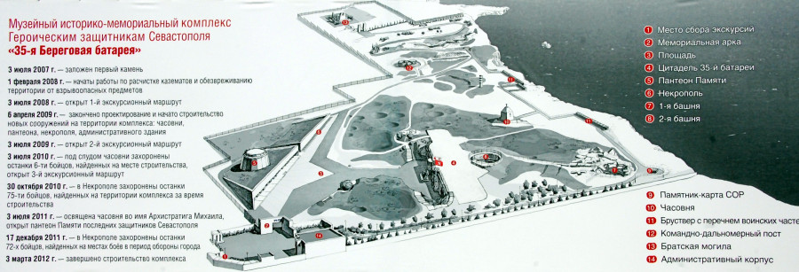 ForPost - Новости: На мемориальном комплексе «35-я Береговая батарея» состоялась торжественная церемония завершения строительства