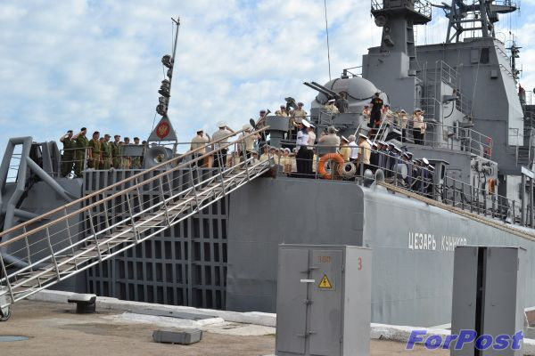 ForPost - Новости: БДК Черноморского флота «Цезарь Куников» отремонтируют в Варне