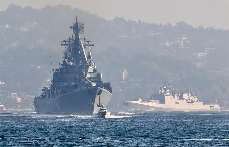 ForPost - Новости: Мир следит за проходом крейсера «Москва» через Босфор и Дарданеллы