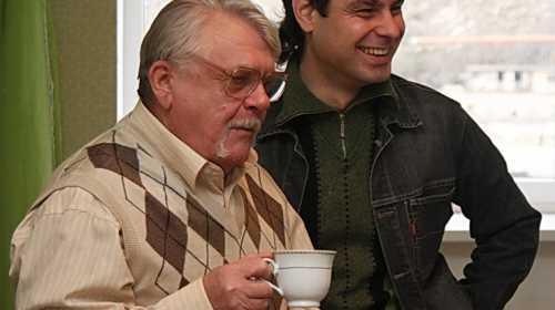 Скульптор Суханов и автор проекта Денис Бурганов