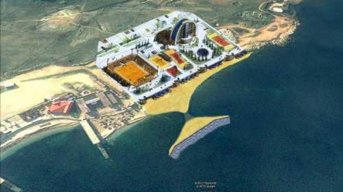 Перспектива Парка Победы с искуственным рифом и песчанным пляжем
