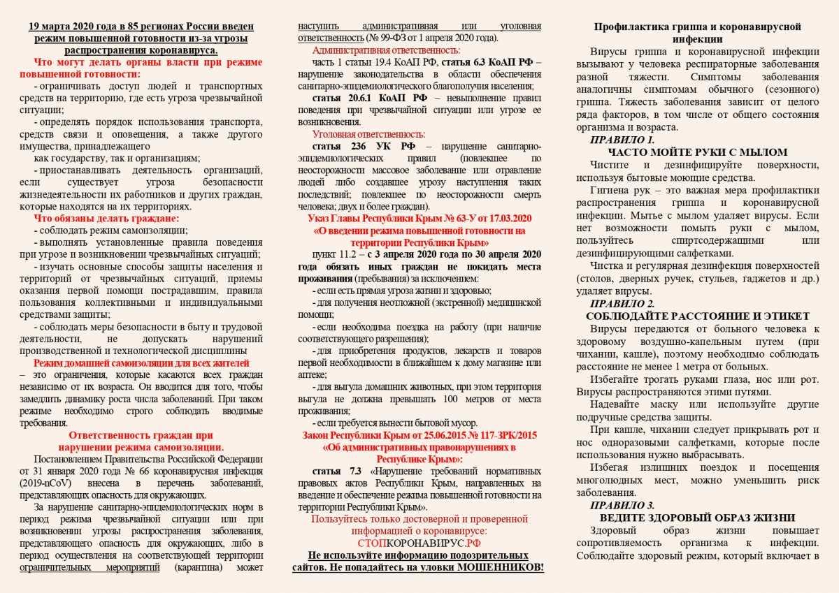 Что нужно знать о режиме самоизоляции и наказании за его нарушение в Крыму