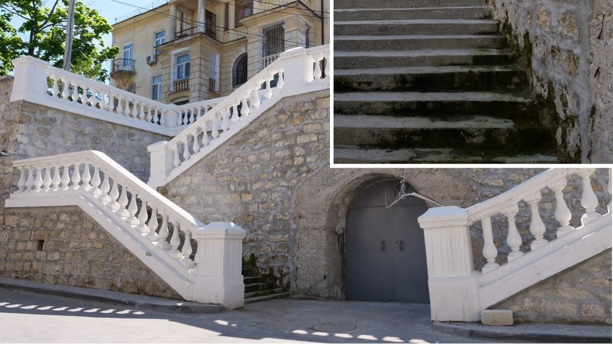 лестница памятник центр севастополь плесень