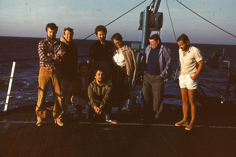 С коллегами на палубе «Ломоносова»